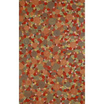 Visions III Fiesta Giant Swirls Indoor/Outdoor Area Rug Rug Size: Rectangle 5 x 8