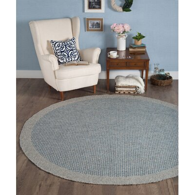 Felipe Blue/Gray Indoor/Outdoor Area Rug Rug size: Round 76