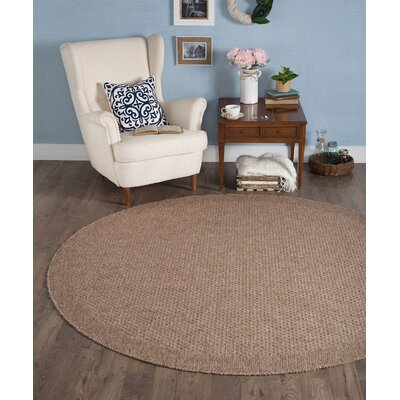 Felipe Beige Indoor/Outdoor Area Rug Rug size: Round 76