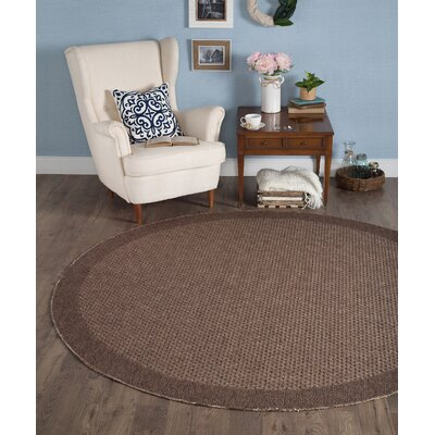 Felipe Mocha Indoor/Outdoor Area Rug Rug size: Round 76