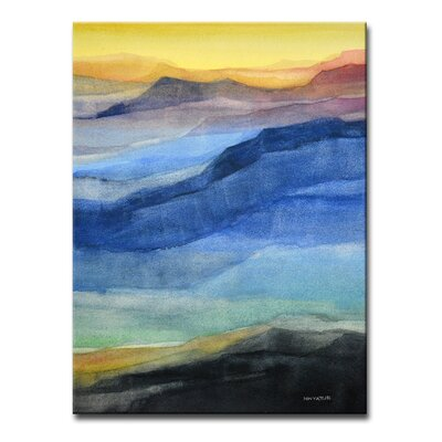 'Rainbow Hills' Painting Print on Wrapped Canvas Size: 16