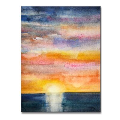 'Glorious Sunset' Painting Print on Wrapped Canvas Size: 16