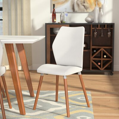 Keagan Side Chair (Set of 2) Side Chair Upholstery: White