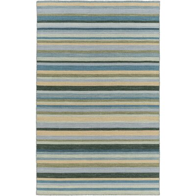 Dixon Hand-Woven Green Area Rug Rug Size: 36 x 56