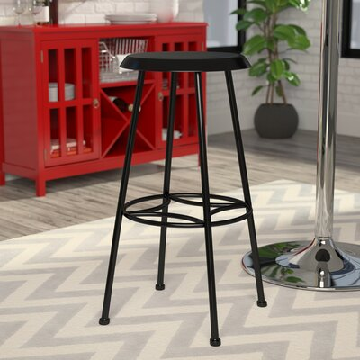 Betty 30 Bar Stool Upholstery: Black