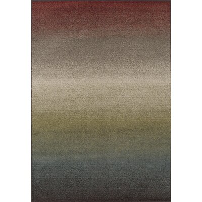 Charleigh Blue/Red Area Rug Rug Size: 411 x 7