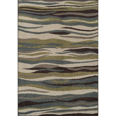 Charleigh Blue/Green Area Rug Rug Size: 411 x 7