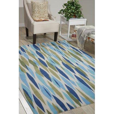 Gloria Blue/Green Indoor/Outdoor Area Rug Rug Size: 53 x 75
