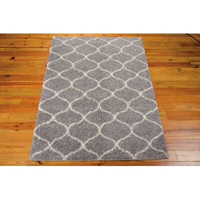 Addison Silver Area Rug Rug Size: Rectangle 22 x 39