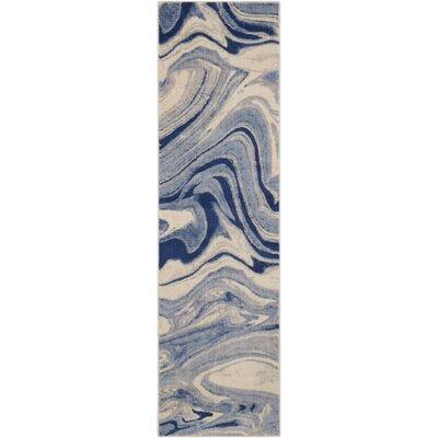 Melinda Blue Area Rug Rug Size: Runner 2 x 59