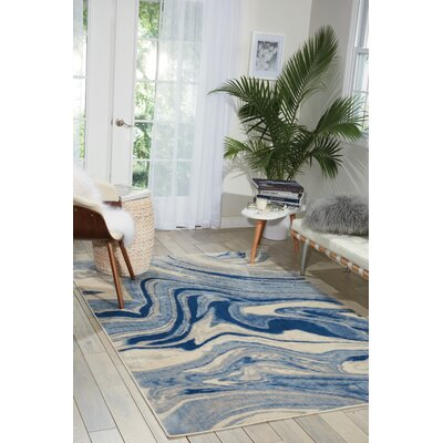 Melinda Blue Area Rug Rug Size: Rectangle 79 x 1010