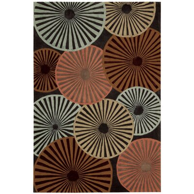 Desousa Black/Brown/Blue Outdoor Area Rug Rug Size: 73 x 93