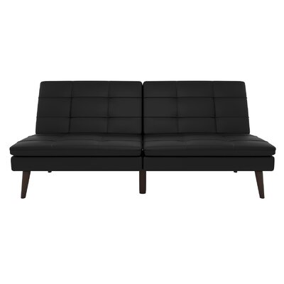 Makenzie Convertible Sofa Upholstery: Black