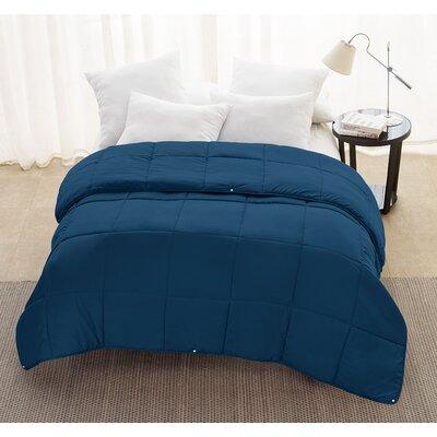 Andy 2-Piece Comforter Set Color: Navy, Size: Queen