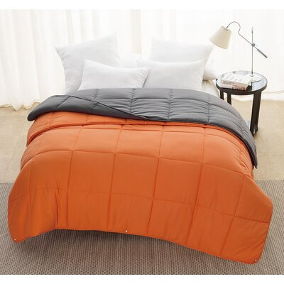 Andy 2-Piece Comforter Set Color: Charcoal, Size: King
