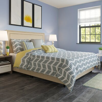 Charlie Upholstered Panel Bed Size: King