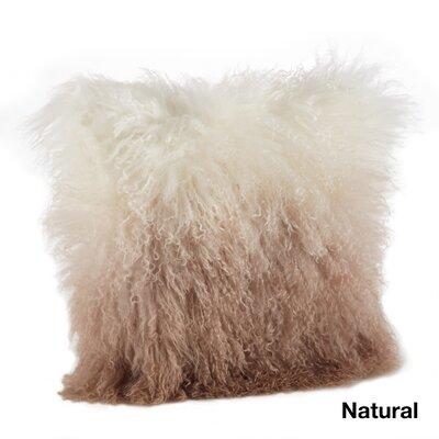 Blankenship Wool Lumbar Pillow Color: Natural
