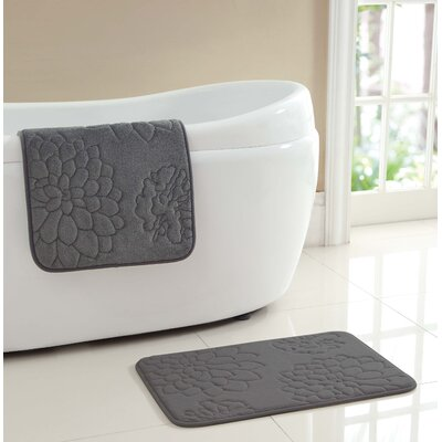 Audra Bath Rug Color: Gray