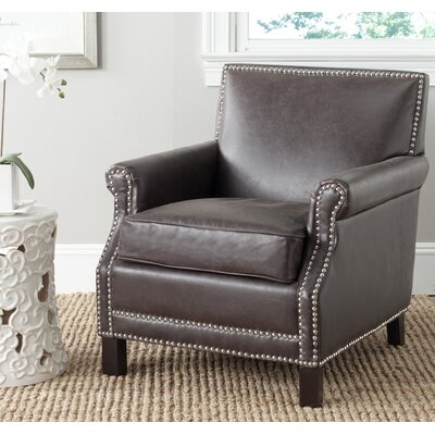 Layfield Club Chair Upholstery: Antique Brown