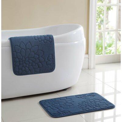 Audra Bath Rug Color: Blue