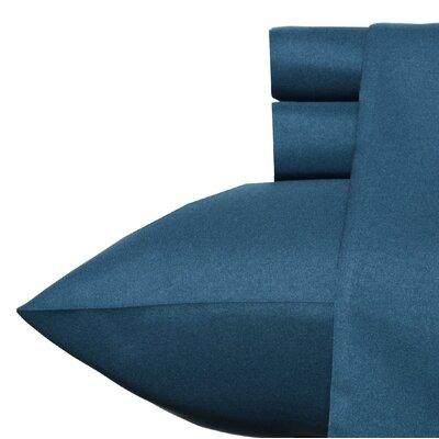 Carmela Sheet Set Color: Dark Blue, Size: Queen