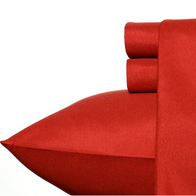 Carmela Sheet Set Color: Dark Red, Size: Queen