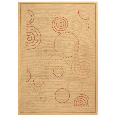 Mullen Transitional Circles Outdoor Rug Rug Size: Rectangle 67 x 96