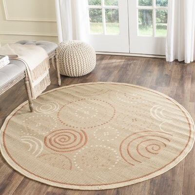 Mullen Transitional Circles Outdoor Rug Rug Size: Round 67