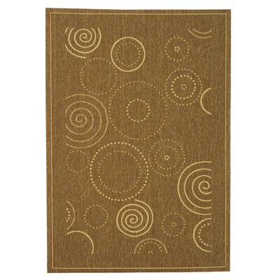 Mullen Circles Outdoor Power Loomed Rug Rug Size: 53 x 77