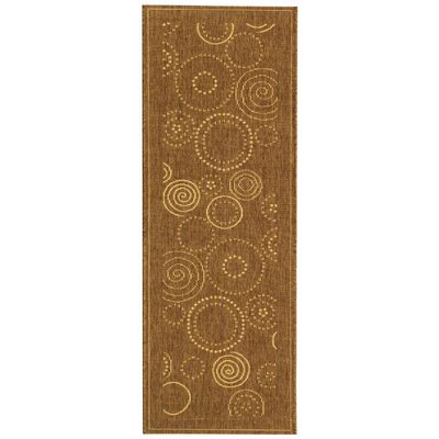 Mullen Circles Outdoor Power Loomed Rug Rug Size: Runner 24 x 911