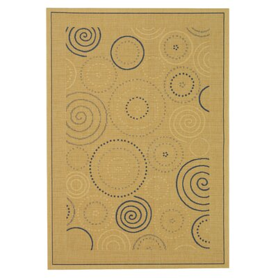 Mullen Circles Outdoor Rug Rug Size: Rectangle 67 x 96
