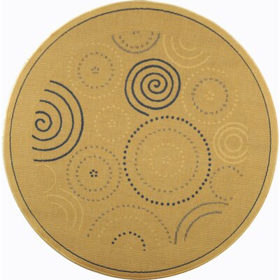 Jada Circles Outdoor Rug Rug Size: Round 53