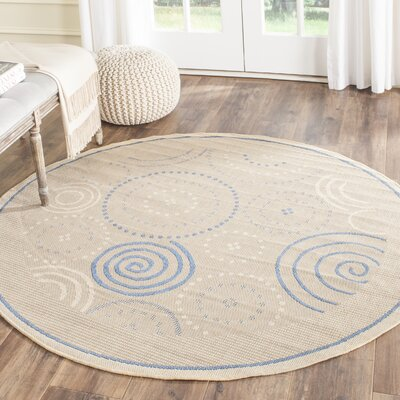 Mullen Circles Outdoor Rug Rug Size: Round 67