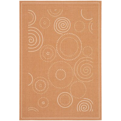 Mullen Terracotta/Natural Circle Outdoor Rug