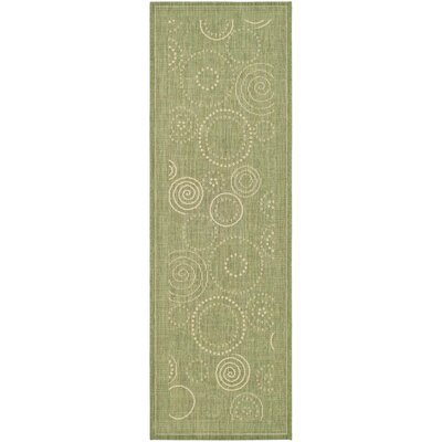 Mullen Olive Outdoor Area Rug Rug Size: Rectangle 27 x 5