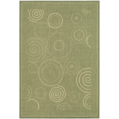 Mullen Olive Outdoor Area Rug Rug Size: Rectangle 2 x 37