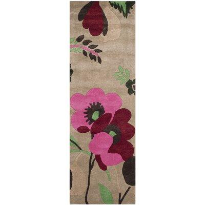 Cruz Hand-Woven Wool Sand Area Rug Rug Size: Runner 23 x 7