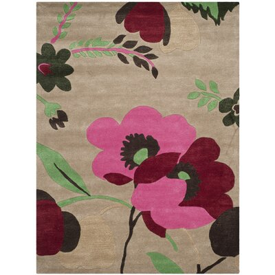 Cruz Hand-Woven Wool Sand Area Rug Rug Size: Rectangle 8 x 10