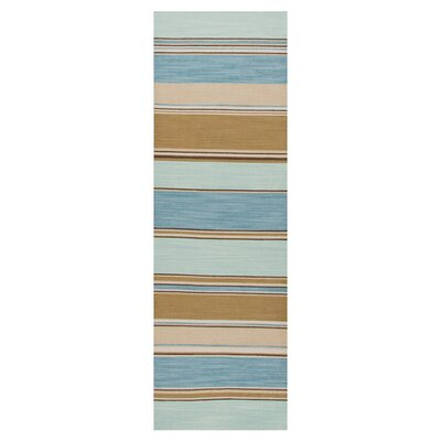 Elwanda Aqua Sky Rug Rug Size: Runner 26 x 8