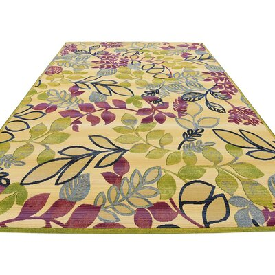 Ronda Cream Indoor/Outdoor Area Rug Rug Size: Rectangle 114 x 8