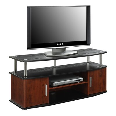 Nova Traditional 47.3 TV Stand Color: Cherry/Black