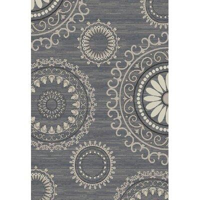 Lea Kaleidoscope Gray Area Rug Rug Size: 8 x 10