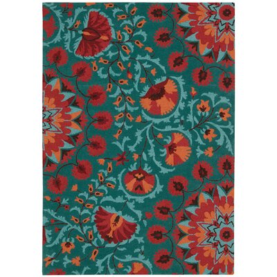 Doretta Teal Area Rug Rug Size: Rectangle 26 x 4
