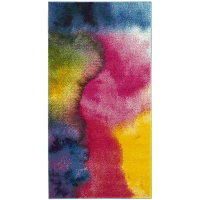 Clara Pink/Purple Area Rug Rug Size: Rectangle 67 x 9