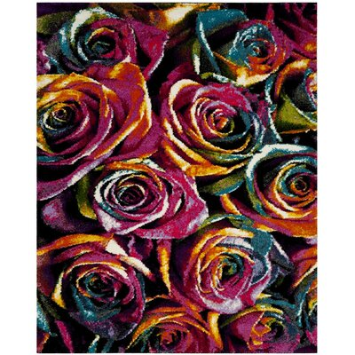 Cleveland Fuchsia Area Rug Rug Size: Rectangle 51 x 76