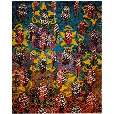 Ina Turquoise Area Rug Rug Size: 8 x 10