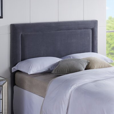 Jamie Upholstered Panel Headboard Size: Twin, Upholstery: Dove