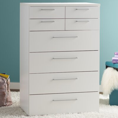 Shelby 8 Drawer Chest Color: White