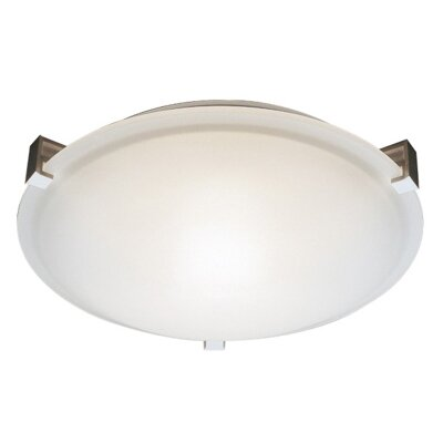 Braydon 2-Light Flush Mount Finish: White