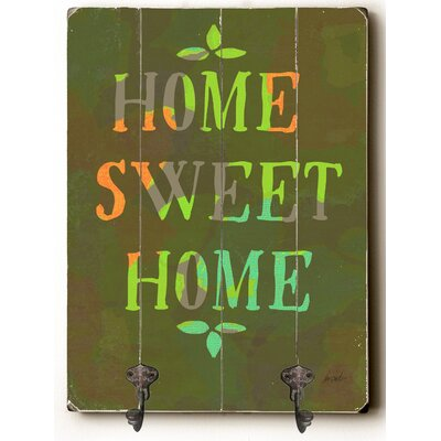 Home Sweet Home Wood Wall Mounted Coat Rack ZIPC8239 37478741